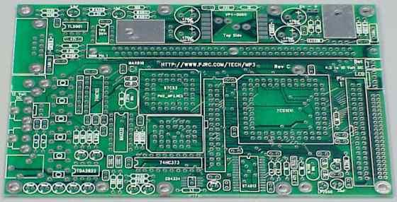 Pjrc Mp3 Player  Printed Circuit Board Layout