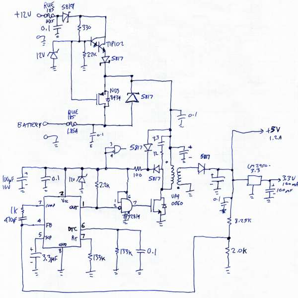 PJRC MP3 Player, Schematic Diagrams