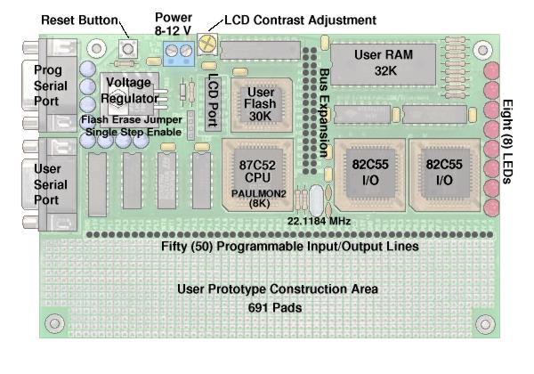 8051 Development System Circuit Board