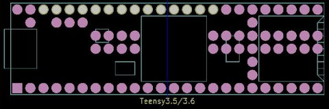 Eagle CAD libraries for use with Teensy USB development boards