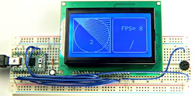 Glcd  Ks0108  Graphic Lcd Arduino Library  On Teensyduino