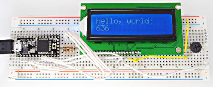 LiquidCrystal Arduino Library, using small character LCD modules