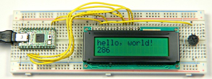 LiquidCrystal Arduino Library, using small character LCD