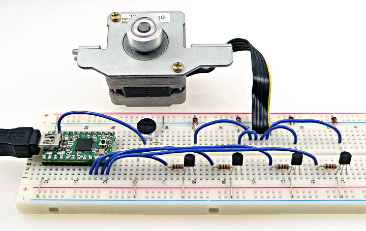hook up stepper motor arduino