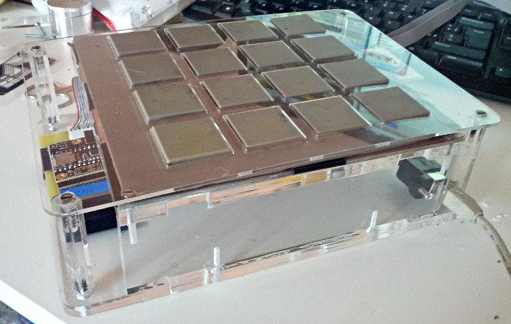 MCP Style MIDI Controller Using Homemade Force Sensitive