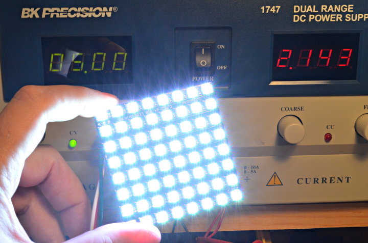 How Much Current Do WS2812 / NeoPixel LEDs Really Use?