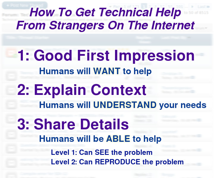 How To Get Tech Help From Strangers On The Internet